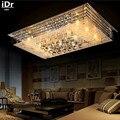 Crystal LED ceiling lamp bedroom lamp rectangular living room Ceiling Lights  Bedroom lamp Hall  High-grade light  iDr-0125