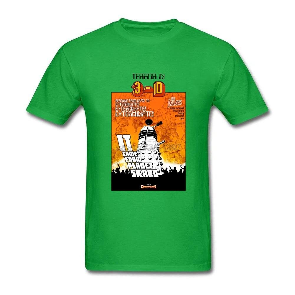Desain t shirt kerah - Membuat Lengan Pendek Tshirt Datang Dari Planet Skaro Dewasa Desain Kemeja Kerah Bulat Doctor Who Dr