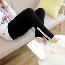 Nice Spring Summer woMen Clothes Nice Style Leg Opening Zipper Cotton Leggings Pants Fashion Casual Sexy