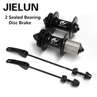 JIELUN Bicycle Hubs 2 Sealed Bearing Aluminum Alloy Casette Disc Brake 32 Hole Mountain Bike Hub With Quick Release