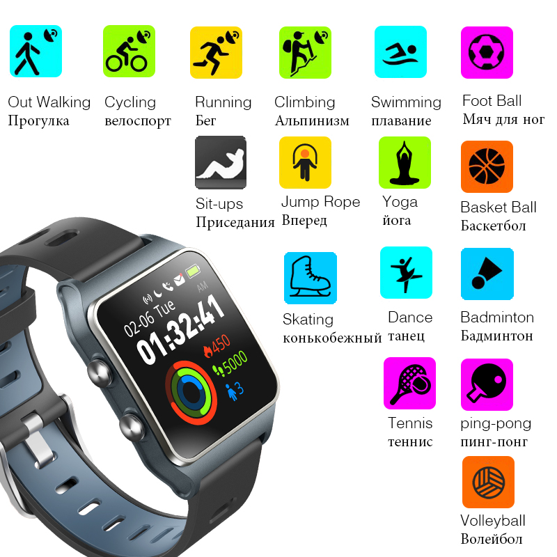 Free Strap Makibes BR3 Smart Watch GPS Strava Wristband IP68 Waterproof Heart Rate 1.3
