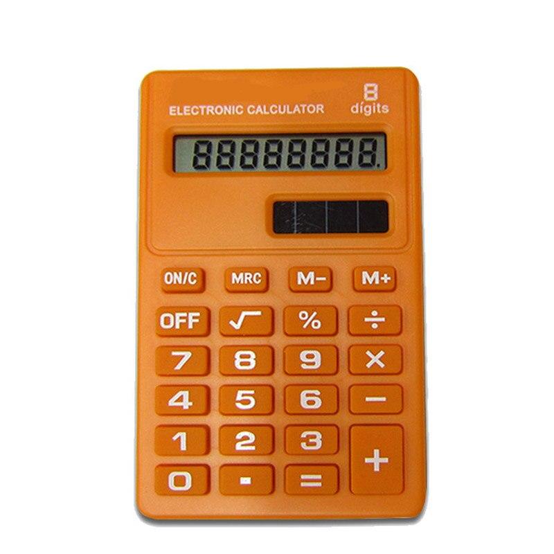 2018 dessin animé Mini Calculatrice 8 chiffres affichage double alimentation mignon bonbons Calculadora Solaire Hesap Makinesi Calculatrice Solaire