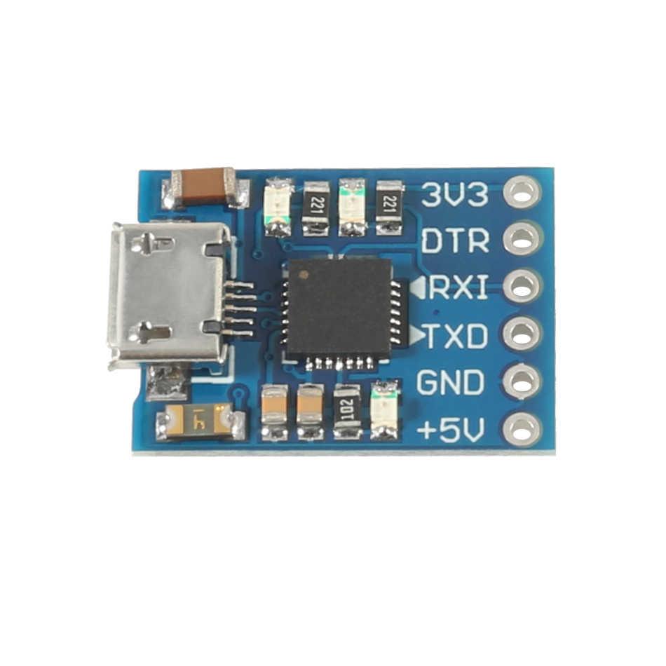 Aokin CP2102 Micro USB untuk UART TTL Modul 6Pin 6Pin Konverter Serial UART STC Mengganti FT232 Baru UNTUK ARDUINO