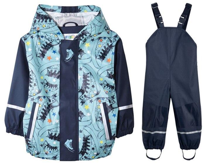 Spring new children s waterproof windbreaker outdoor suit