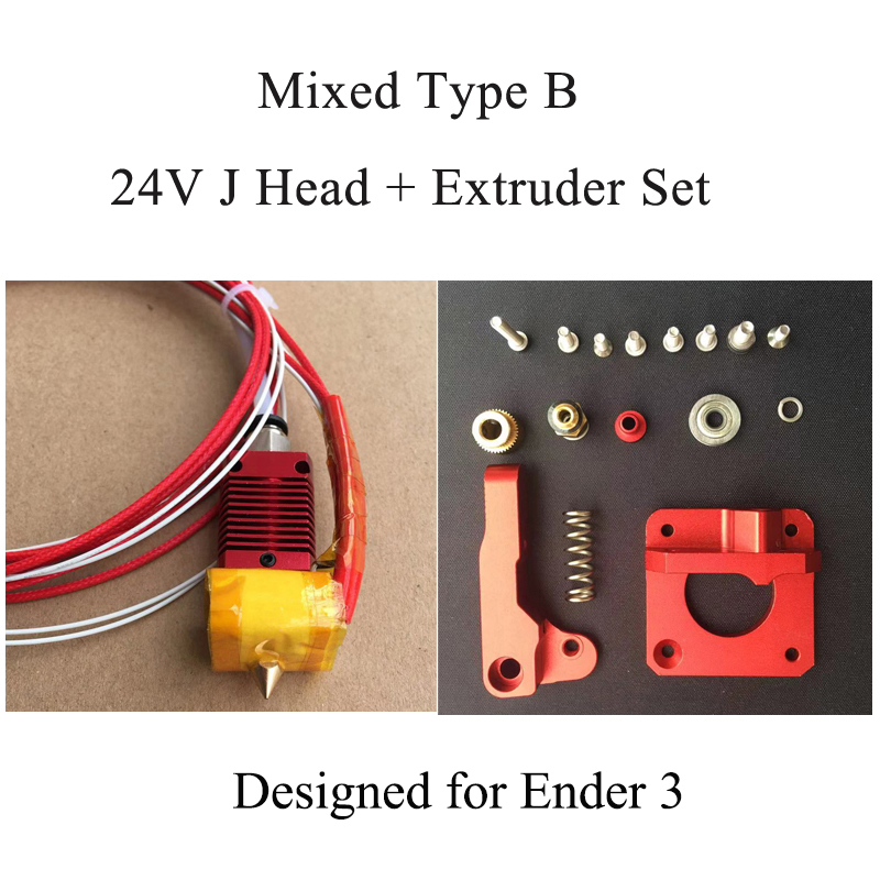 3D Extruder Full Metal J-head Ender 3 MK10 Hotend Assembled Extruder Hot End Kit Filament 1.75MM 0.4MM  3D Printer Part for CR10