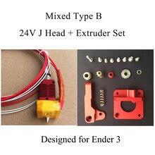3D экструдер металлический j-глава Эндер 3 MK10 Hotend собраны экструдер горячей конец комплект нити 1,75 мм 0,4 мм 3D-принтеры часть для CR10