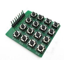 8pin 4*4 4×4 Matrix 16 Keypad Keyboard Breadboard Module 16 Button Mcu for Arduino Diy Starter Kit
