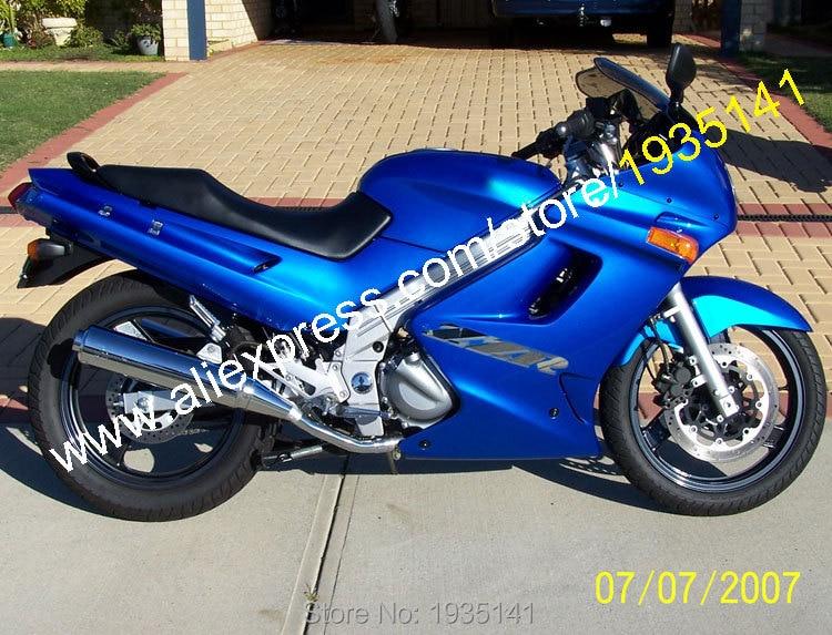 Hot Sales,Popular Body Kit For Kawasaki ZZR-250 Parts 90-07 ZZR250 ZZR 250 1990-2007 Full Blue Aftermarket Sportbike Fairing