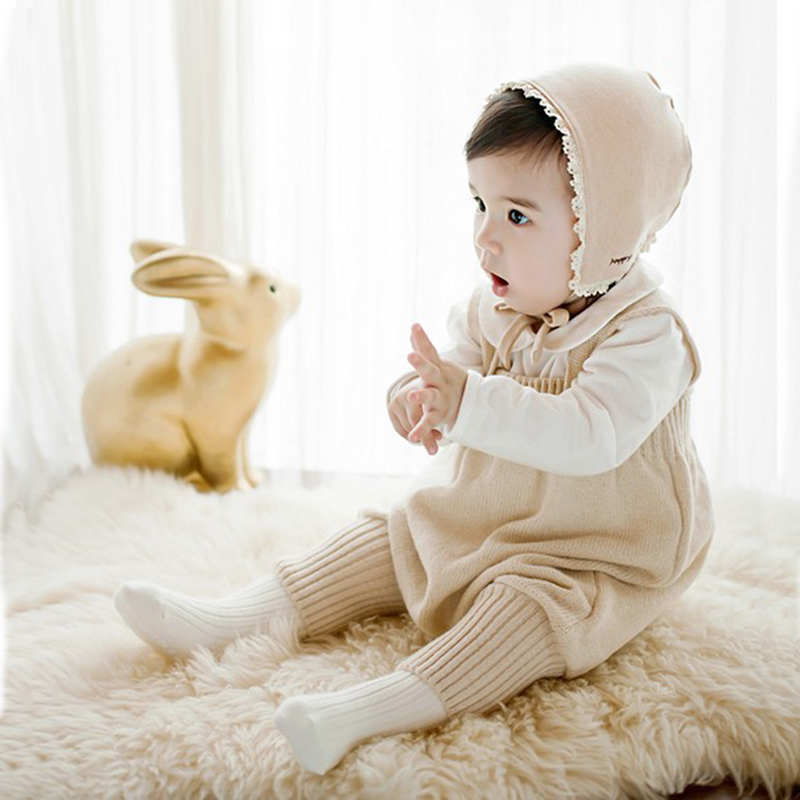 Romper For Baby Newborn Knit Overall Infant Cotton Bib Kids Pants Boys Girls Climbing Clothes One-Pieces Clothing Cute Jumpsuit newborn infant baby girls boys long sleeve clothing 3d ear romper cotton jumpsuit playsuit bunny outfits one piecer clothes kid