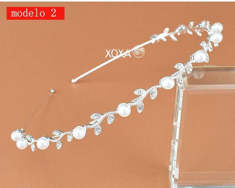 Moda feminina strass cristal cabeca bandagem no cabeca coroa Tiara de noiva de cabelo acessorios (10)