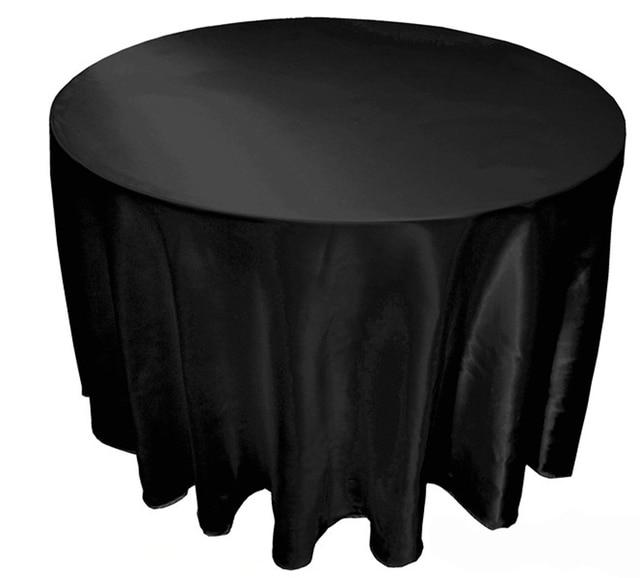 10 Pcs Lot 90 120 Tablecloth Table Cover White Black Round Satin
