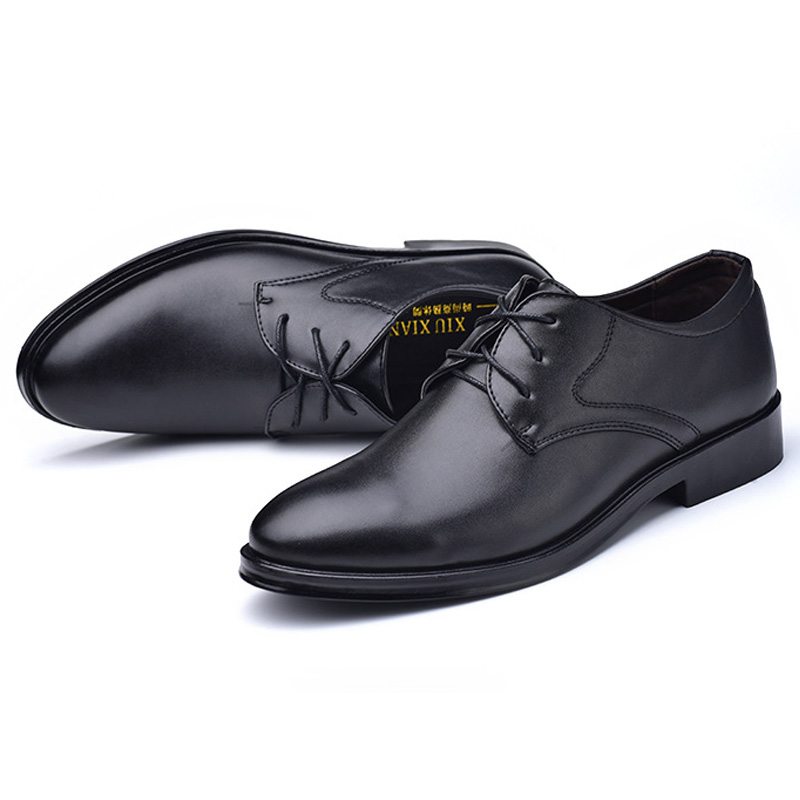 Mens Dress Shoes Classic Formal Shoes Fashion Slip On Casual Leather Shoes Soft Male Oxfords 2019 New Bussines Shoe High Quality Men's Shoes Formal Shoes