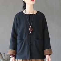 Chinois style Manteau D'hiver Femmes Coton Polaire Épaisse Chaud Manteau Vintage Rétro Veste D'hiver Femmes Manteau Femme Hiver A279
