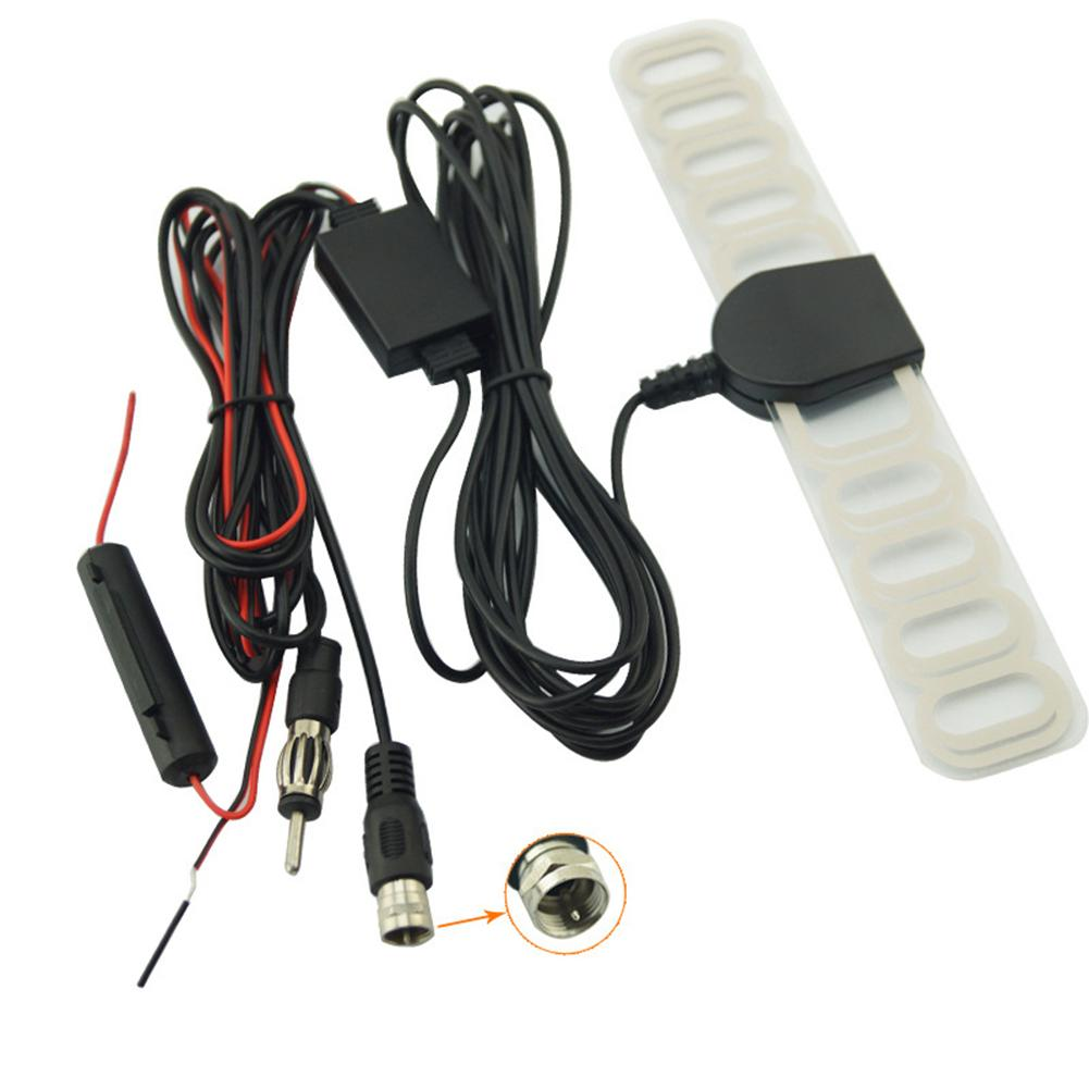 Автомобильный цифровой ТВ-тюнер DVBT ISDB радио FM антенна усилитель F Тип разъем для автомобиля Dash DVD головное устройство стерео