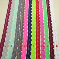 20 yard/lot 13mm Elastic Stretch Lace trim clothes/garment/headband/sewing accessories No 1-13