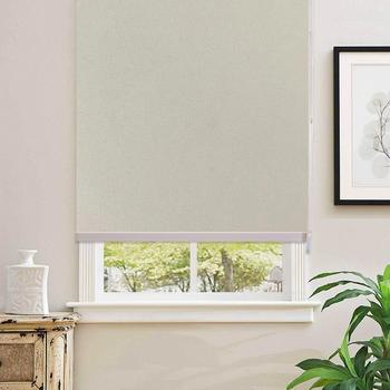 100% Blackout Beige Home Roller Blinds Customized Blinds Waterproof Thermal Roller Shade Window Shade With Back In White