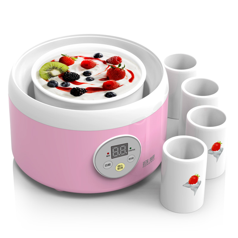 RW TW-301C Natto Rice Wine Yogurt Makers with All Ceramic Liner Household Fully Automatic Yogurt Sub-cup Free with Yogurt Powder rw 1 5l automatic natto yogurt makers light green household intelligent rice wine yogurt machine with glass liner free shipping
