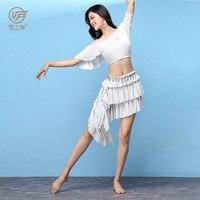 New Belly dance Costume set Professional bellydance skirt For Women bellydancing wear Two piece Set