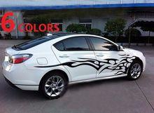 1 par Universal de coches el cuerpo entero Sticker fuego llama decoración calcomanías de vinilo Auto Truck