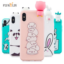 Silicon Phone Cases For iPhone X 8 7 6S 6 Plus 5S SE Cute Cartoon Panda Unicorn Cover for iphone / XS Max XR