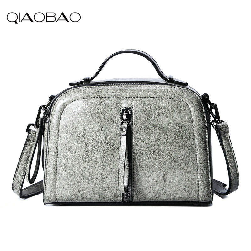 QIAOBAO Brand Simple 100% Cowhide Leather Handbags Fashion Genuine Leather Bag Shoulder Messenger Bag Tide Package qiaobao 100% genuine leather handbags new network of red explosion ladle ladies bag fashion trend ladies bag