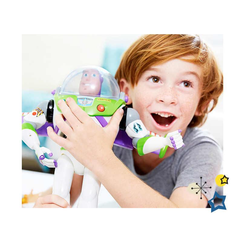 Toy Story Buzz Lightyear 4 3 Luzes Brinquedos Falando Falar Inglês Conjunto Móvel Action Figure Collectible Toy Boneca Para As Crianças menino