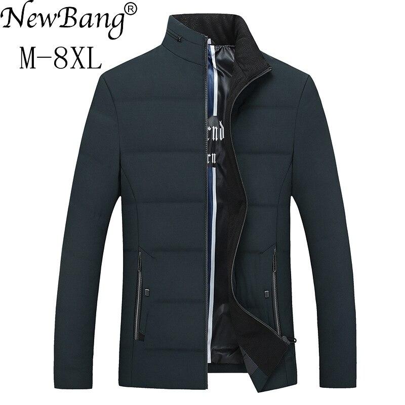 NewBang marque 5XL 6XL 7XL 8XL Plus hommes hiver bas manteau hommes duvet de canard chaud épais plume Parka pour hommes Outwear grande taille