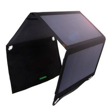 Foldable Solar Power Bank 21W 2 MIC Ports Charger with SunPower Solar Panel Powerbank Cell USB Solar Panel Charger with Power3S