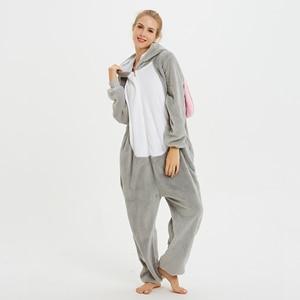 Image 3 - Unisex Kigurumi Adult Unicorn Pajamas onesie Cosplay Women Winter Flannel Pajama unicornio Sleepwear Overall Couple pijama