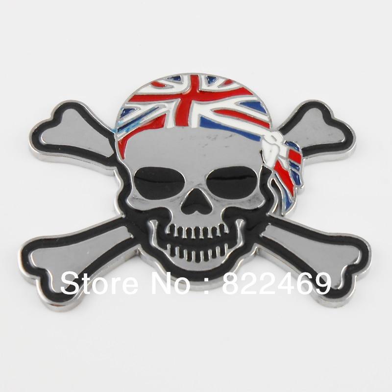 3D DIY Car Decal Skull Pirate Sticker Emblem Badge Logo