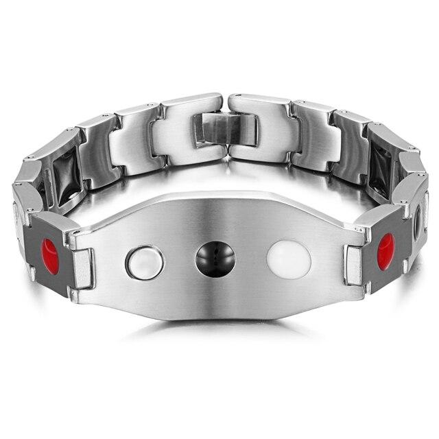 Rainso hommes bijoux personnalisé salutations Bracelet cadeau pour ami de la famille santé Bracelet magnétique pour larthrite