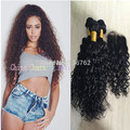 Malaysian Water Wave with Closure Malaysian Virgin Hair with Closure Human Hair Weft with Closure Water Wave Virgin Hair
