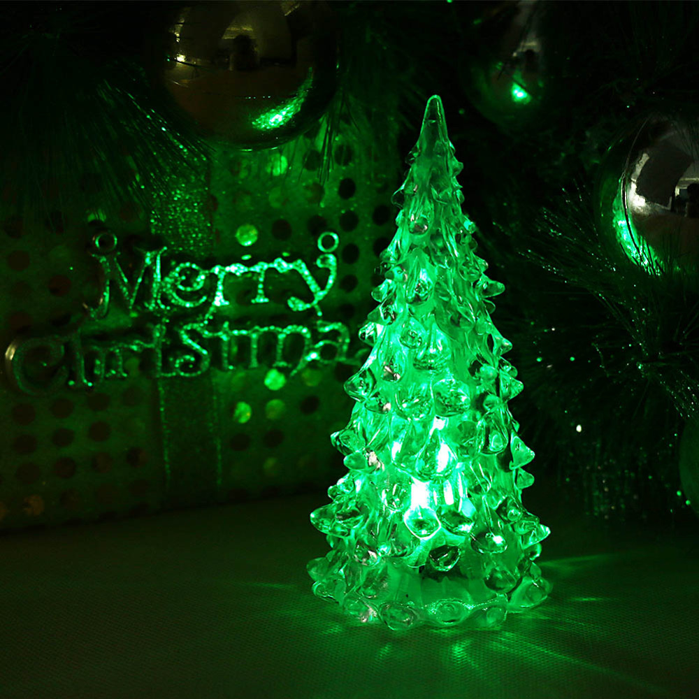 Christmas Ornament Christmas Tree Ice Crystal Colorful Changing LED ...