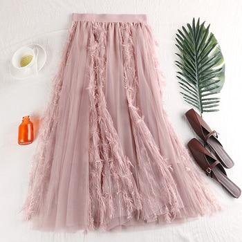 Double-layer Mesh Half-length Half-length Half-length Half-length Half-length Half-length Half-length Skirt фото
