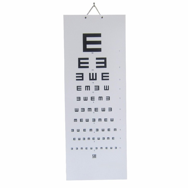 Professional Simple Eye Chart Hanger Vision Chart For Student Adult