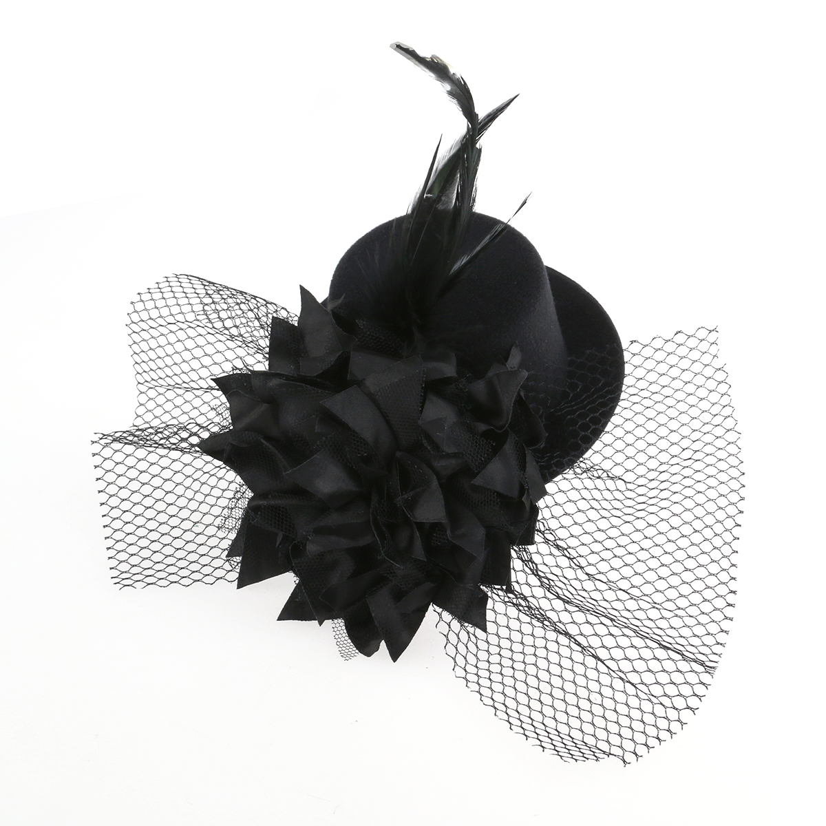 ccefc1649 Hot Sale] Burlesque Gothic Glitter Mini Top Hat Party Wedding Dance ...