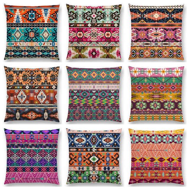 Aliexpress Buy Colorful Seamless Aztec Decorative Prints Fancy Classy Aztec Decorative Pillows