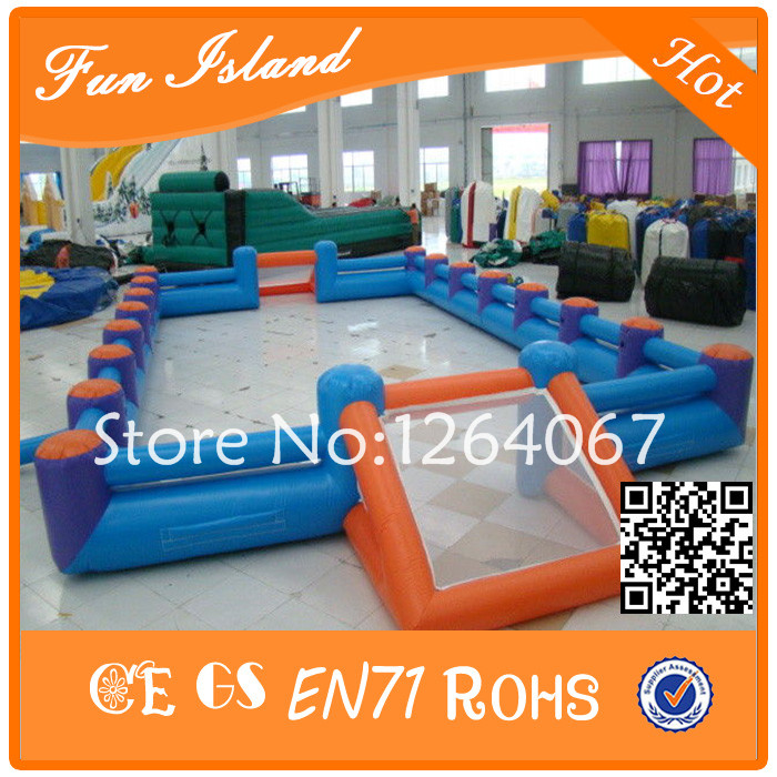 Free Shipping Double Tube Outdoor Playground Equipment Inflatable Football Court, Backyard Soccer Field, Inflatable Football frico sfs56e23