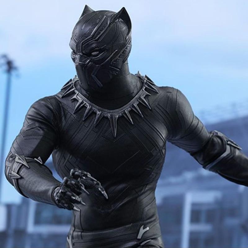 Marvel Original 1 6 Avengers Infinity War Super Hero Black Panther BJD Action Figure PVC Toy