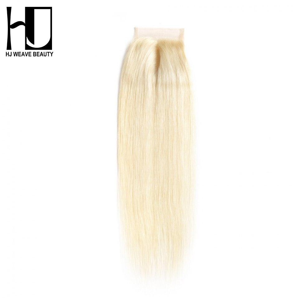 Ausdrucksvoll Hj Weben Schönheit Haar Brasilianische Verschluss Gerade Verschluss Farbe #613 Blonde Brasilianische Spitze Verschluss Mittleren Teil Freies Verschiffen Dhl