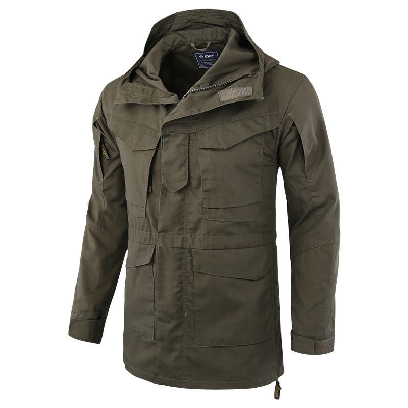 Hiking Jackets 2019 New Style Outdoors Mens Military M65 Tactical Windbreaker Wear-resisting Windproof Coat Climbing Hiking Trekking Training Male Jacket