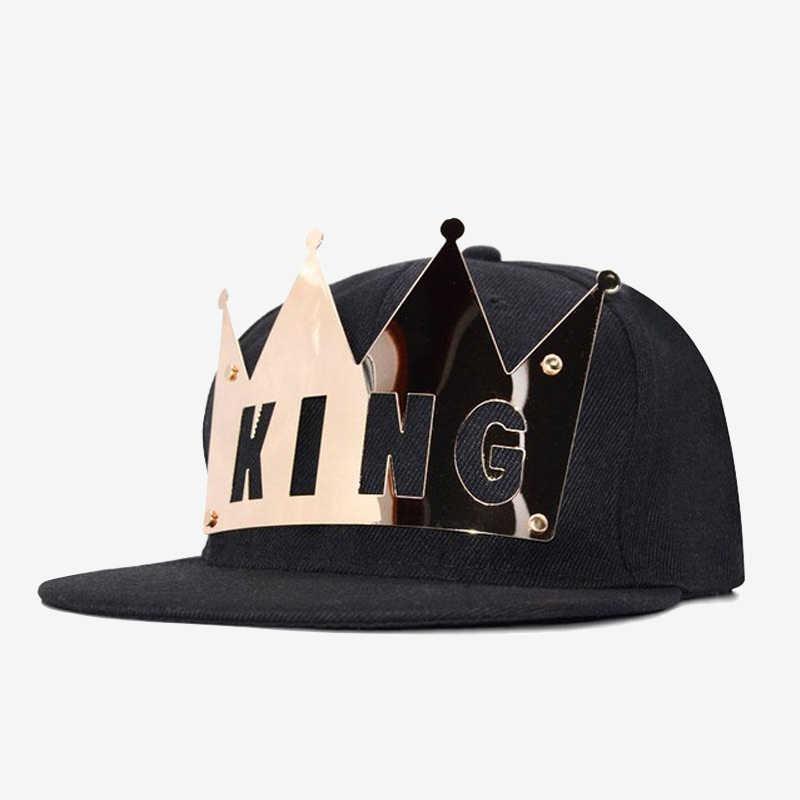 b75a66ad5f6 COKK New Hip Hop Metal Letter King Queen Baseball Cap Femmes Snapback Hats  For Women Men