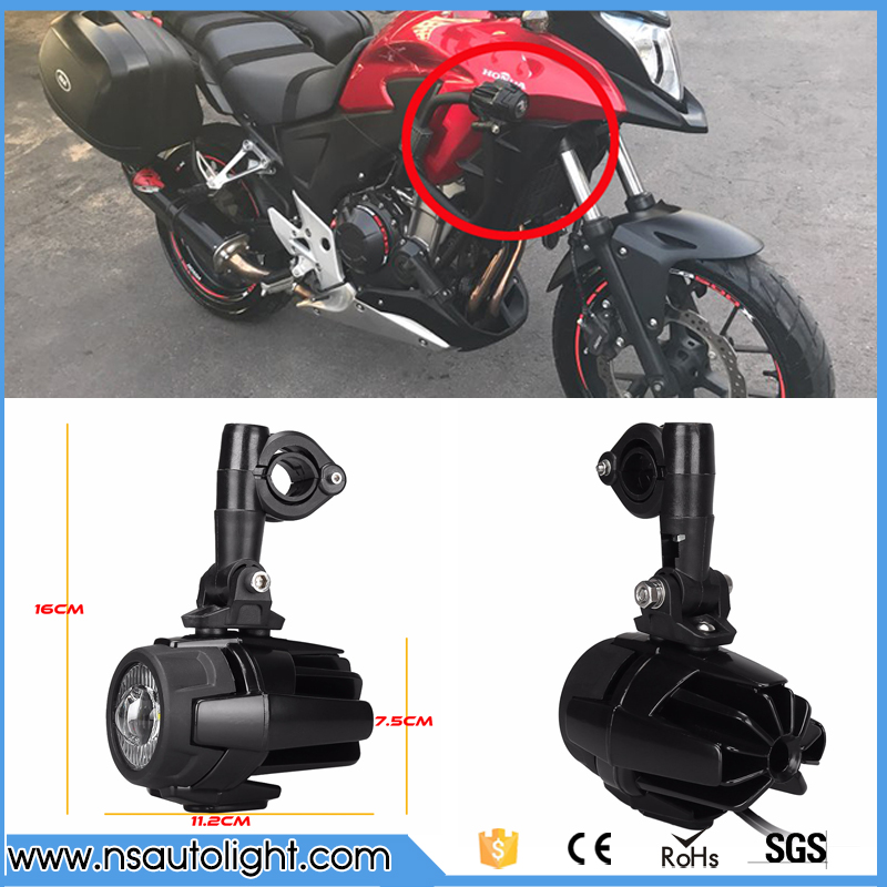 Universal Motorcycle LED Auxiliary Fog Light Assemblie Driving Lamp 40W Headlight For BMW R1200GS/ADV/F800GS/F700GS/F650FS/