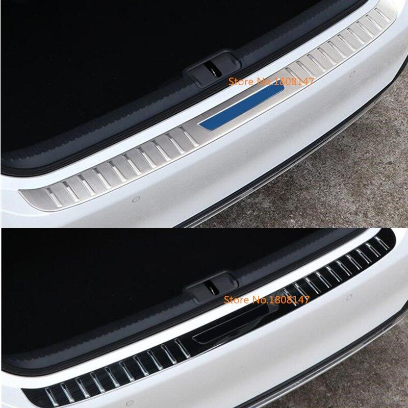 Top qualité voiture arrière pédale arrière plaque de seuil extérieur garniture de coffre pour lexus es es200 es250 es300h es350 2018 2019
