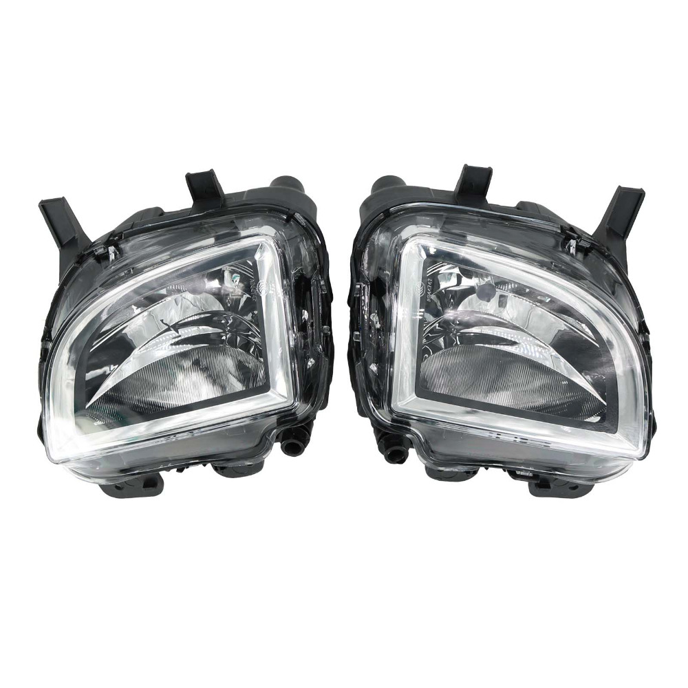 2Pcs For VW Golf 6 MK6 GTI Jetta GLI 2009 2010 2011 2012 2013 2014 Front Halogen Light Fog Lamp Fog Light right side for vw polo vento derby 2014 2015 2016 2017 front halogen fog light fog lamp assembly two holes