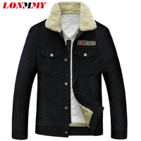 LONMMY M 3XL Winter Jacket Men Cotton Thicker Liner Warm Bomber Jacket Men Coat Military Style