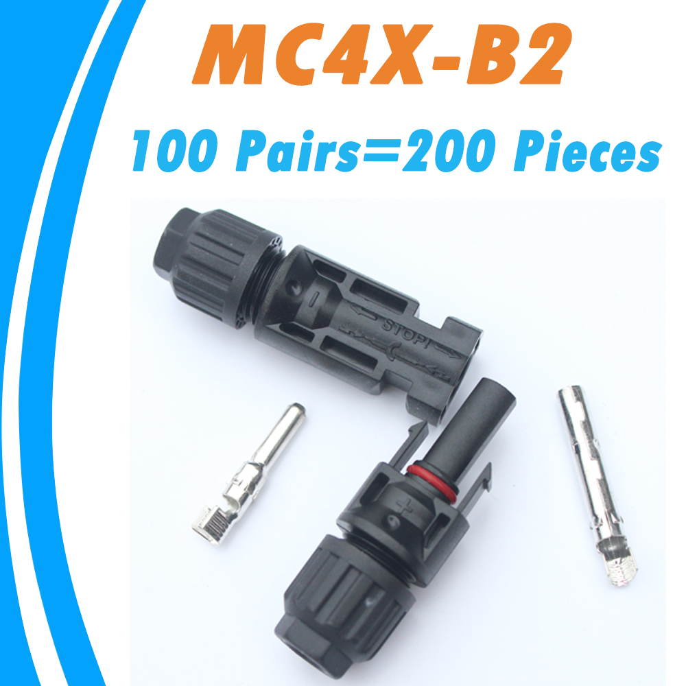 PowMr 100 Pairs TUV IP67 MC4 Connectors Female Male 2 5 4 0 6 0 mm2