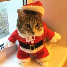 Рождественская Одежда для кошек, одежда для Хеллоуина, костюм для кошек, Новогодняя одежда, одежда для домашних животных, котов для чихуахуа, зимняя теплая одежда для домашних животных