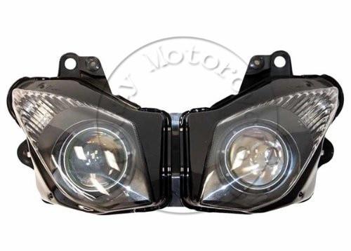 Мотоциклов передняя фара для Kawasaki на ZX-6р запросу zx6r 2009 2010 Глава свет лампы фары освещения Мото запчасти
