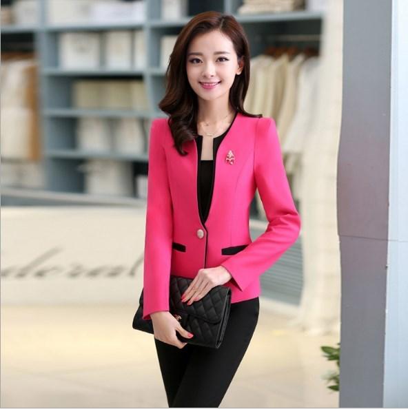 Ladies Business Casual Trousers Suit Women Pant Suits for Women Blazer+Pants 2 Piece Set Workwear Outfit Black White Blue Pink